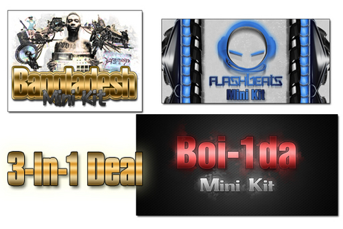 Product picture ---3-in-1 Deal--- Bangladesh, Boi-1da & Flash Beats Kits